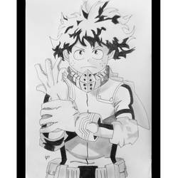 izuku midoriya, 9 x 13 inch, taha sapatwala,9x13inch,drawing paper,drawings,figurative drawings,modern drawings,portrait drawings,paintings for kids room,ball point pen,graphite pencil,paper,GAL02204133781