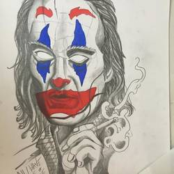joker, 12 x 17 inch, linda joy j,12x17inch,drawing paper,drawings,modern drawings,street art,paintings for living room,paintings for bedroom,pen color,graphite pencil,paper,GAL02197533806