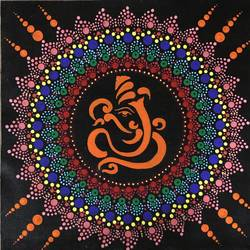 vighnaharta, 12 x 12 inch, neha nayak,12x12inch,canvas,paintings,ganesha paintings | lord ganesh paintings,acrylic color,GAL02207233829