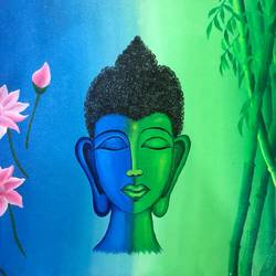sanity of soul, 18 x 14 inch, neha nayak,18x14inch,canvas,paintings,buddha paintings,acrylic color,GAL02207233830