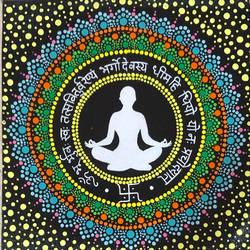 peace of mind, 12 x 12 inch, neha nayak,12x12inch,canvas,paintings,religious paintings,acrylic color,GAL02207233831