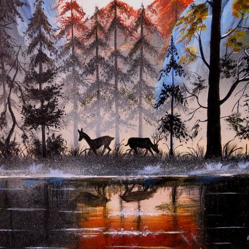 fogy landscape , 21 x 19 inch, shiuli majumder,21x19inch,canvas,paintings,abstract paintings,wildlife paintings,nature paintings | scenery paintings,realistic paintings,paintings for dining room,paintings for living room,paintings for bedroom,paintings for office,paintings for hotel,acrylic color,GAL01355233841