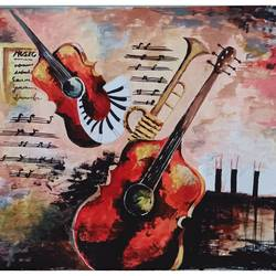 guitar painting, 12 x 15 inch, rajshree dhruw,12x15inch,thick paper,paintings,abstract paintings,acrylic color,GAL0760133844