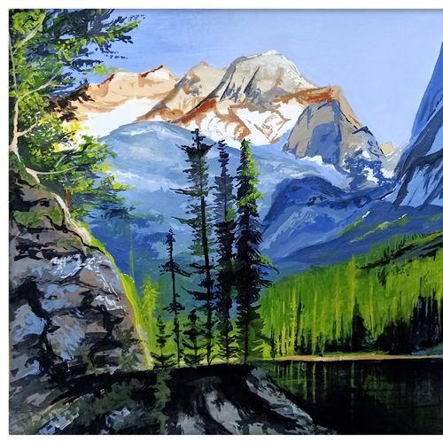 scenery, 12 x 15 inch, rajshree dhruw,12x15inch,thick paper,paintings,realism drawings,paintings for bedroom,acrylic color,GAL0760133846