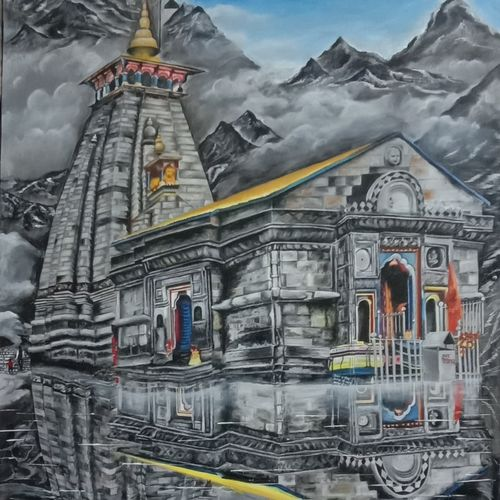 mahadev painting, 34 x 47 inch, ila  singh,34x47inch,canvas,paintings,landscape paintings,modern art paintings,conceptual paintings,religious paintings,still life paintings,nature paintings | scenery paintings,abstract expressionism paintings,expressionism paintings,photorealism paintings,photorealism,realism paintings,realistic paintings,lord shiva paintings,paintings for living room,paintings for bedroom,paintings for office,paintings for kids room,paintings for hotel,paintings for school,paintings for hospital,acrylic color,oil color,GAL0795933847