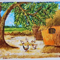 an indian village courtyard , 17 x 12 inch, nilina guha,17x12inch,thick paper,paintings,landscape paintings,nature paintings | scenery paintings,art deco paintings,animal paintings,paintings for dining room,paintings for living room,paintings for bedroom,paintings for office,paintings for kids room,paintings for hotel,paintings for school,paintings for hospital,paintings for dining room,paintings for living room,paintings for bedroom,paintings for office,paintings for kids room,paintings for hotel,paintings for school,paintings for hospital,acrylic color,paper,GAL02203033861