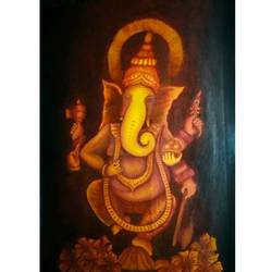 ganesh, 15 x 21 inch, nireeksha acharya,15x21inch,canvas,paintings,ganesha paintings | lord ganesh paintings,paintings for living room,paintings for office,paintings for hotel,paintings for school,acrylic color,GAL02175633864