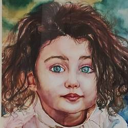 shining eyes, 15 x 20 inch, surabhi  singh ,15x20inch,handmade paper,paintings,portrait paintings,expressionism paintings,photorealism,realistic paintings,kids paintings,paintings for dining room,paintings for living room,paintings for bedroom,paintings for office,paintings for kids room,paintings for hotel,paintings for school,paintings for hospital,watercolor,GAL01950533873