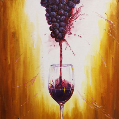paint and sip, 24 x 30 inch, shalini gupta,still life paintings,paintings for living room,canvas,oil,24x30inch,GAL012653388