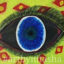 dream catcher, 6 x 8 inch, nitasha luthra,6x8inch,thick paper,paintings,abstract paintings,modern art paintings,contemporary paintings,paintings for dining room,paintings for living room,paintings for bedroom,paintings for office,paintings for kids room,paintings for hotel,paintings for school,paintings for hospital,acrylic color,paper,GAL02210033893