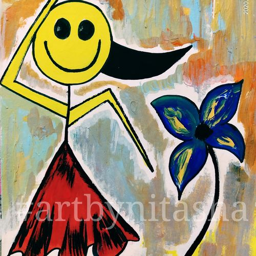 cute painting #3, 6 x 8 inch, nitasha luthra,6x8inch,thick paper,paintings,abstract paintings,modern art paintings,contemporary paintings,paintings for dining room,paintings for living room,paintings for bedroom,paintings for office,paintings for kids room,paintings for hotel,paintings for school,paintings for hospital,acrylic color,paper,GAL02210033899
