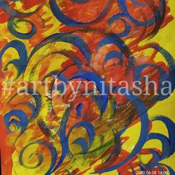 color bonanza - curves, 6 x 8 inch, nitasha luthra,6x8inch,thick paper,paintings,abstract paintings,modern art paintings,contemporary paintings,paintings for dining room,paintings for living room,paintings for bedroom,paintings for office,paintings for bathroom,paintings for kids room,paintings for hotel,paintings for kitchen,paintings for school,paintings for hospital,acrylic color,paper,GAL02210033907