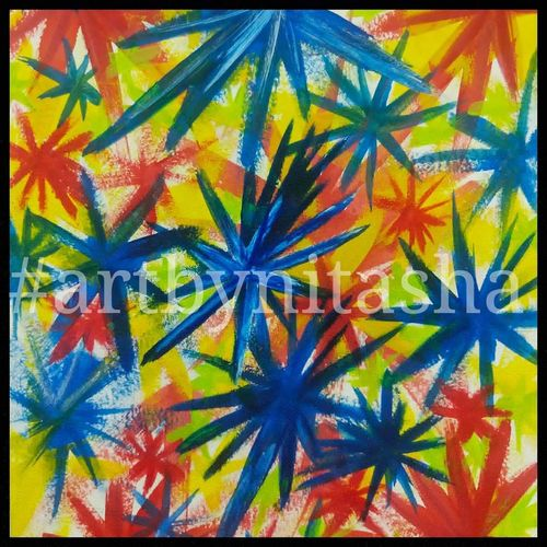 color bonanza - starts, 6 x 8 inch, nitasha luthra,6x8inch,thick paper,paintings,abstract paintings,modern art paintings,contemporary paintings,paintings for dining room,paintings for living room,paintings for bedroom,paintings for office,paintings for bathroom,paintings for kids room,paintings for hotel,paintings for kitchen,paintings for school,paintings for hospital,acrylic color,paper,GAL02210033908