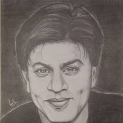 shah rukh khan , 8 x 12 inch, lin taji,8x12inch,paper,drawings,figurative drawings,fine art drawings,illustration drawings,portrait drawings,charcoal,graphite pencil,paper,GAL02190033936