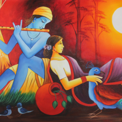 radha krishna, 48 x 24 inch, shubham sheel gautam,48x24inch,canvas,paintings,radha krishna paintings,paintings for dining room,paintings for living room,paintings for bedroom,paintings for office,paintings for hotel,paintings for kitchen,paintings for hospital,acrylic color,GAL02078833944