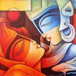 intimacy-02, 36 x 24 inch, shubham sheel gautam,36x24inch,canvas,paintings,figurative paintings,paintings for dining room,paintings for living room,paintings for bedroom,paintings for office,paintings for hotel,paintings for kitchen,paintings for hospital,acrylic color,GAL02078833948