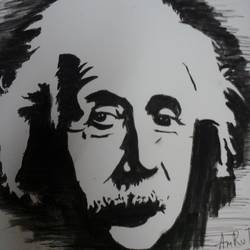 einstein, 15 x 10 inch, amrutha darsi,portrait paintings,paintings for office,thick paper,watercolor,15x10inch,GAL012663395