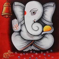lord ganesha-01, 24 x 36 inch, shubham sheel gautam,24x36inch,canvas,paintings,ganesha paintings | lord ganesh paintings,paintings for dining room,paintings for living room,paintings for bedroom,paintings for office,paintings for hotel,paintings for kitchen,paintings for school,paintings for hospital,acrylic color,GAL02078833956
