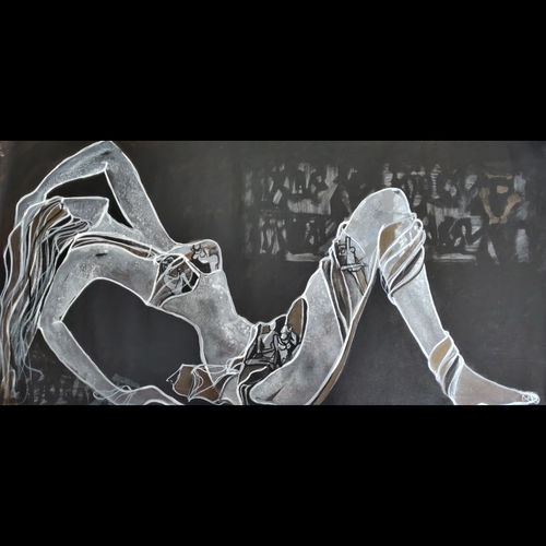 untitled , 48 x 24 inch, zalak  bheda,48x24inch,canvas,abstract paintings,figurative paintings,paintings for dining room,paintings for bedroom,paintings for bathroom,paintings for hotel,paintings for dining room,paintings for bedroom,paintings for bathroom,paintings for hotel,acrylic color,GAL01672333957