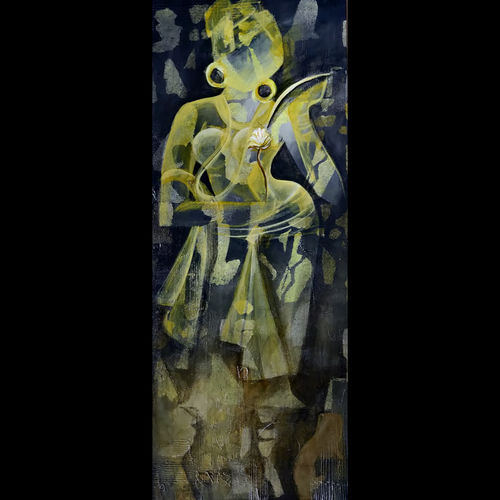 untitled , 12 x 36 inch, zalak  bheda,12x36inch,canvas,paintings,abstract paintings,figurative paintings,paintings for dining room,paintings for living room,paintings for bedroom,paintings for bathroom,paintings for hotel,acrylic color,GAL01672333958