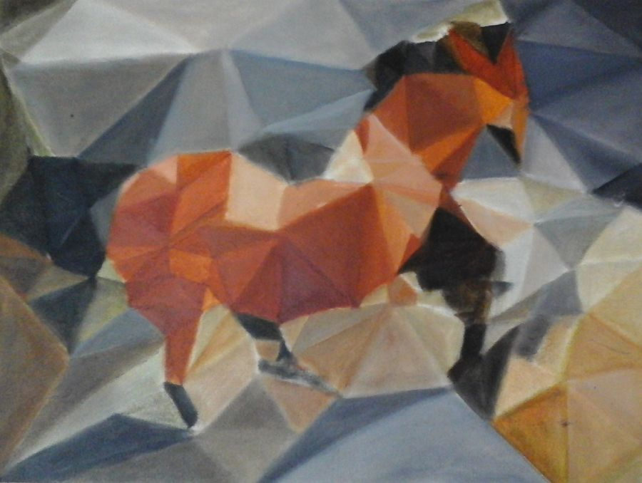 horse, 12 x 16 inch, amrutha darsi,abstract paintings,paintings for living room,wildlife paintings,cubist paintings,canvas,oil paint,12x16inch,GAL012663396
