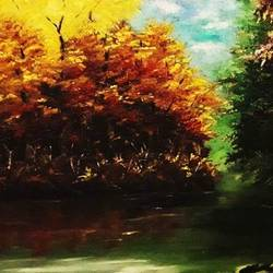 nature , 20 x 16 inch, diptonil banerjee,20x16inch,canvas board,paintings,landscape paintings,nature paintings   scenery paintings,oil color,GAL01103233969