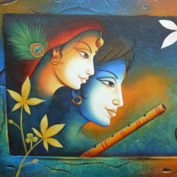 the divine radha krishna-02, 48 x 24 inch, shubham sheel gautam,48x24inch,canvas,paintings,religious paintings,realism paintings,radha krishna paintings,love paintings,paintings for dining room,paintings for living room,paintings for bedroom,paintings for office,paintings for bathroom,paintings for hotel,paintings for kitchen,paintings for school,paintings for hospital,acrylic color,GAL02078833980