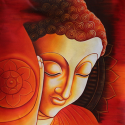 lord buddha-02, 24 x 36 inch, shubham sheel gautam,24x36inch,canvas,paintings,buddha paintings,religious paintings,paintings for dining room,paintings for living room,paintings for bedroom,paintings for office,paintings for bathroom,paintings for hotel,paintings for kitchen,paintings for school,paintings for hospital,acrylic color,GAL02078833981