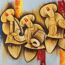 musical figures, 36 x 24 inch, shubham sheel gautam,36x24inch,canvas,paintings,figurative paintings,paintings for dining room,paintings for living room,paintings for bedroom,paintings for office,paintings for hotel,paintings for kitchen,paintings for school,paintings for hospital,acrylic color,GAL02078833983