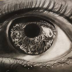eye painting, 12 x 14 inch, neha mittal,12x14inch,drawing paper,paintings,realism paintings,charcoal,GAL02187433993