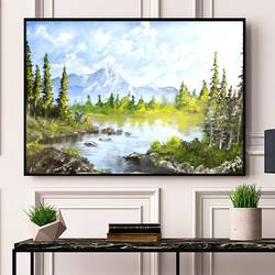 nature vibes | mountain landscape painting in oil, 23 x 18 inch, k mohanish  rao,23x18inch,oil sheet,paintings,landscape paintings,nature paintings | scenery paintings,paintings for dining room,paintings for living room,paintings for bedroom,paintings for office,paintings for kids room,paintings for hotel,paintings for kitchen,paintings for school,paintings for hospital,oil color,GAL02214133994