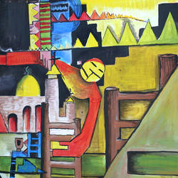the ghost of freedom, 80 x 40 inch, dana qino,80x40inch,canvas,paintings,abstract paintings,paintings for office,acrylic color,GAL02212134006