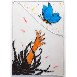 break free, 3 x 5 inch, pardha saradhi g,3x5inch,acrylic glass,paintings,abstract paintings,modern art paintings,conceptual paintings,art deco paintings,illustration paintings,minimalist paintings,glass,GAL02044234007