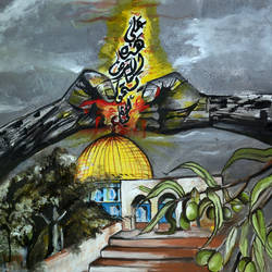 the land of peace, 80 x 40 inch, dana qino,80x40inch,canvas,religious paintings,paintings for hotel,paintings for hotel,acrylic color,GAL02212134009