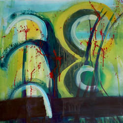 cactus tree, 60 x 30 inch, dana qino,60x30inch,canvas,paintings,abstract paintings,paintings for living room,acrylic color,GAL02212134020