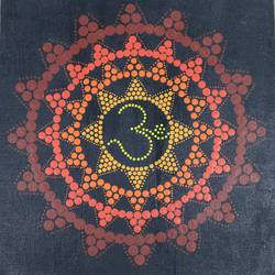 om meditation, 121 x 12 inch, neha nayak,121x12inch,canvas,paintings,religious paintings,acrylic color,GAL02207234030
