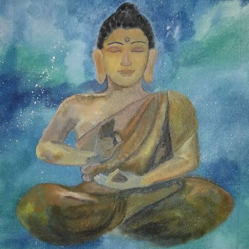 buddha, 16 x 24 inch, poornima  v,16x24inch,canvas,buddha paintings,figurative paintings,modern art paintings,paintings for living room,paintings for office,paintings for hotel,paintings for school,paintings for hospital,paintings for living room,paintings for office,paintings for hotel,paintings for school,paintings for hospital,acrylic color,GAL0613334031