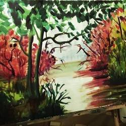 fiction, 60 x 30 inch, dana qino,60x30inch,canvas,paintings,landscape paintings,paintings for bedroom,acrylic color,GAL02212134034