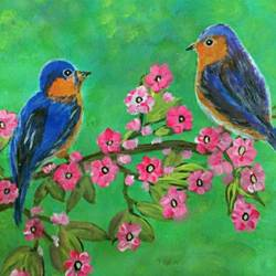 birds and flower, 20 x 15 inch, sujitha  sreeramula chengalrayan,20x15inch,canvas,paintings,flower paintings,nature paintings | scenery paintings,paintings for dining room,paintings for living room,paintings for bedroom,paintings for office,paintings for kids room,paintings for hotel,paintings for hospital,paintings for dining room,paintings for living room,paintings for bedroom,paintings for office,paintings for kids room,paintings for hotel,paintings for hospital,acrylic color,GAL02189834037