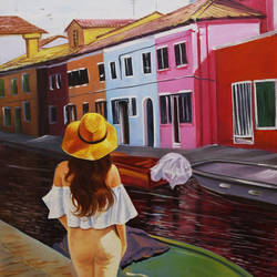 wanderlust , 24 x 36 inch, shalini gupta,photorealism,paintings for living room,cityscape paintings,modern art paintings,canvas,oil,24x36inch,GAL012653404