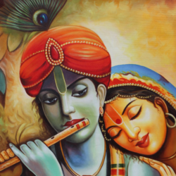 the divine radha krishna-03, 24 x 36 inch, shubham sheel gautam,24x36inch,canvas,paintings,religious paintings,radha krishna paintings,paintings for dining room,paintings for living room,paintings for bedroom,paintings for office,paintings for bathroom,paintings for hotel,paintings for kitchen,paintings for school,paintings for hospital,acrylic color,GAL02078834045