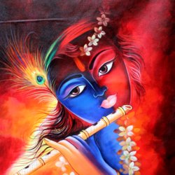 lord krishna-01, 24 x 36 inch, shubham sheel gautam,24x36inch,canvas,paintings,religious paintings,radha krishna paintings,paintings for dining room,paintings for living room,paintings for bedroom,paintings for office,paintings for bathroom,paintings for hotel,paintings for kitchen,paintings for school,paintings for hospital,acrylic color,GAL02078834046