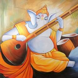 musical ganesha-03, 36 x 24 inch, shubham sheel gautam,36x24inch,canvas,religious paintings,ganesha paintings | lord ganesh paintings,paintings for dining room,paintings for living room,paintings for bedroom,paintings for office,paintings for bathroom,paintings for hotel,paintings for kitchen,paintings for school,paintings for hospital,paintings for dining room,paintings for living room,paintings for bedroom,paintings for office,paintings for bathroom,paintings for hotel,paintings for kitchen,paintings for school,paintings for hospital,acrylic color,GAL02078834047