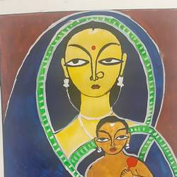 gemini painting, 12 x 15 inch, shiny roy,12x15inch,thick paper,folk art paintings,paintings for living room,paintings for living room,poster color,GAL02219334058