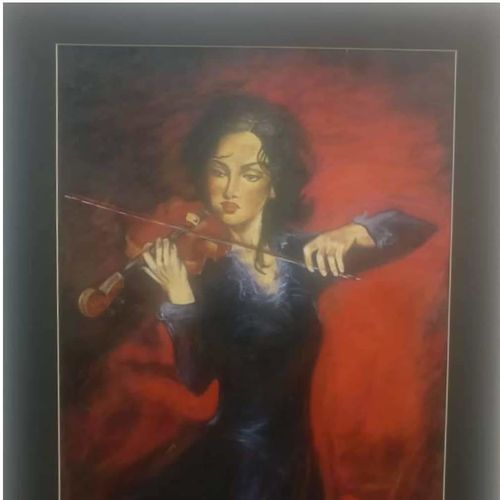 sounds of music, 14 x 20 inch, anju agarwal,14x20inch,fabriano sheet,paintings,figurative paintings,paintings for hotel,acrylic color,GAL02211434068