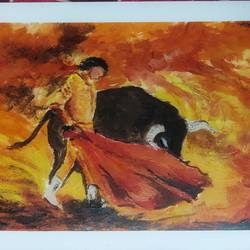 sword dance, 6 x 8 inch, soumyajit sanyal,6x8inch,thick paper,paintings,abstract paintings,abstract expressionism paintings,expressionism paintings,animal paintings,paintings for dining room,paintings for living room,paintings for bedroom,paintings for office,paintings for hotel,paintings for hospital,acrylic color,paper,GAL02082634080