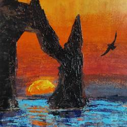 the homecoming, 6 x 8 inch, soumyajit sanyal,6x8inch,thick paper,paintings,abstract paintings,landscape paintings,modern art paintings,nature paintings | scenery paintings,impressionist paintings,surrealism paintings,contemporary paintings,paintings for dining room,paintings for living room,paintings for bedroom,paintings for office,paintings for bathroom,paintings for kids room,paintings for hotel,paintings for kitchen,paintings for school,paintings for hospital,acrylic color,paper,GAL02082634083