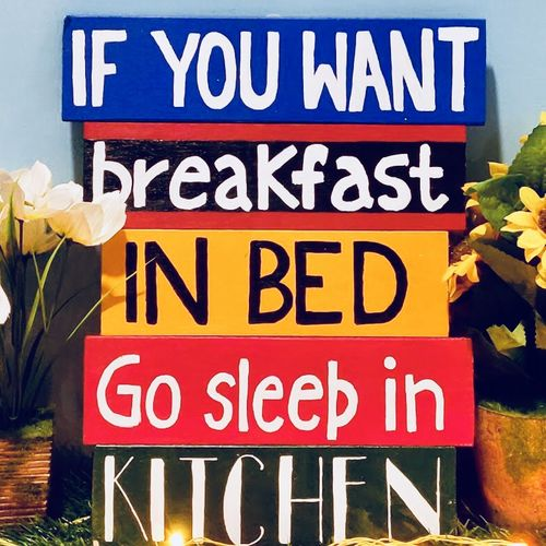 kitchen quotes on wooden plank, 12 x 15 inch, shrishti aggarwal,12x15inch,wood board,paintings,pop art paintings,paintings for kitchen,acrylic color,wood,GAL01085534097