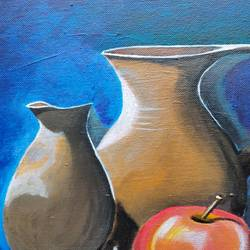 still life, 10 x 12 inch, nidhi choudhari,10x12inch,canvas,paintings,still life paintings,paintings for dining room,paintings for living room,acrylic color,GAL01583534100
