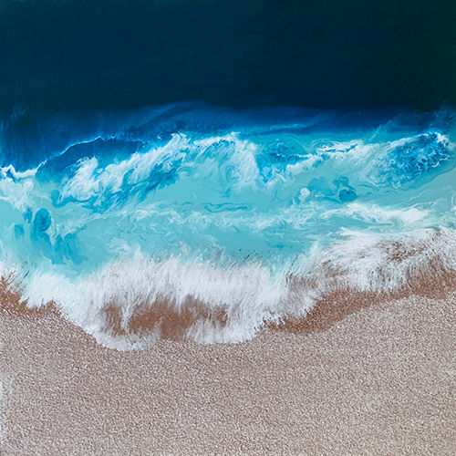 the white sand beach, 30 x 30 inch, haritha reddy,30x30inch,hardboard,paintings,abstract paintings,modern art paintings,conceptual paintings,nature paintings | scenery paintings,enamel color,mixed media,GAL02222134105